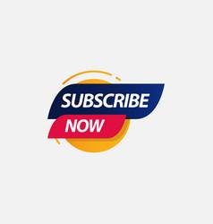 Subscribe now label logo template design vector