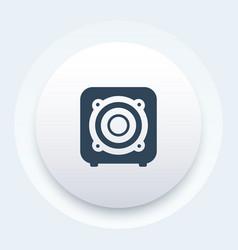 Subwoofer audio speaker icon vector
