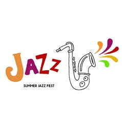 Summer Jazz Festival vector image