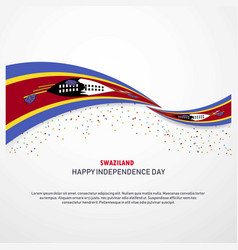 Swaziland happy independence day background vector