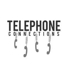 Telephone connections phone hanging white backgrou vector