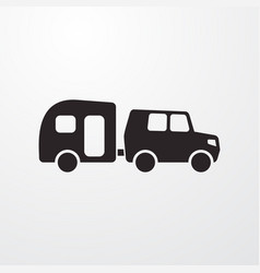 Trailer icon vector