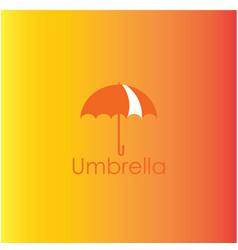 Umbrella template design vector