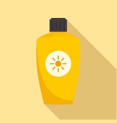 Uva sunscreen bottle icon flat style vector