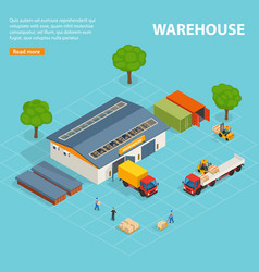 Warehouse top view isometric design composition vector