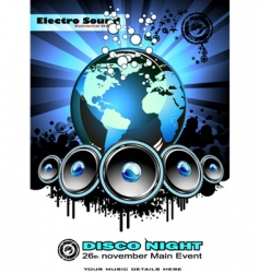 world music event background vector image