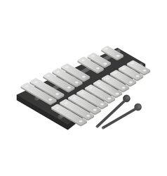 Xylophone icon isometric 3d style vector image vector image