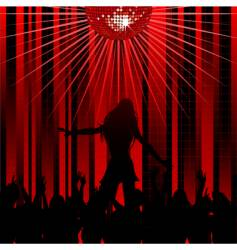 abstract red background and dancer vector image