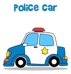 Collection stock of police car vector image vector image