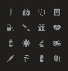 medical - flat icons vector image vector image