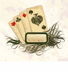 set of playing cards vector image vector image