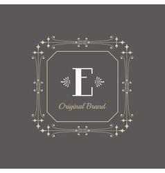 Vintage Frame - Monogram or Calligraphic Design vector image