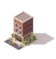 isometric restaurant building vector image vector image