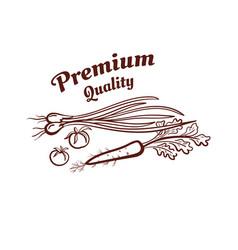 premium quality monochrome emblem vector image