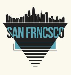 san francisco graphic t-shirt design tee print vector image