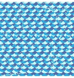 Seamless grunge pattern with waves vector image