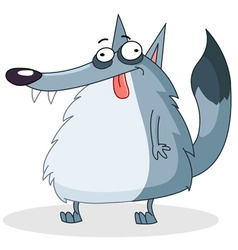 cartoon wolf vector image