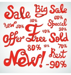 Discount Signs vector image vector image