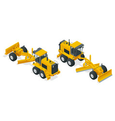 isometric graders used in the construction and vector image