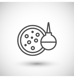 Medical test icon vector image vector image