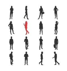 People male female silhouelles in different vector image vector image