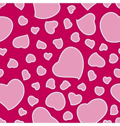 Pink Valentines Day Background Seamless Pattern vector image