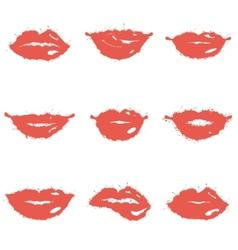 Set of lips vector image