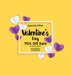 valentines day card or banner 2 vector image vector image