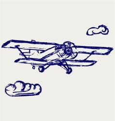 Airplane sketch vector image vector image
