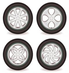 car wheel collection vector image