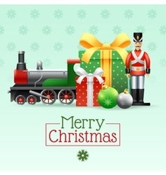 Christmas Vintage Toys Set vector image