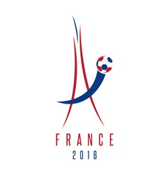 football european championship 2016 in France vector image vector image