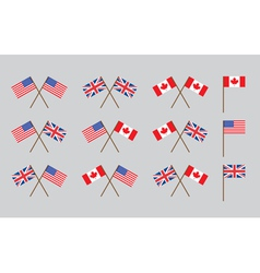 friendship flags vector image