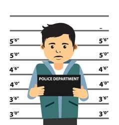 Mugshot Of Young Man vector image