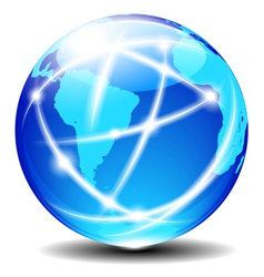 South Latin America Global Communication vector image