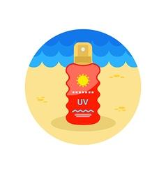 Sun Cream in Spray icon Summer Vacation vector image