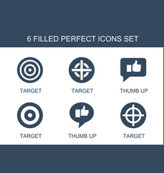 6 perfect icons vector