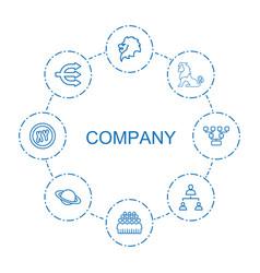 8 company icons vector