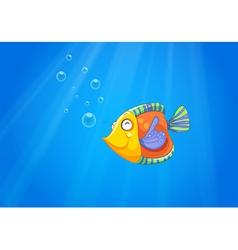 A deep ocean with a fish vector