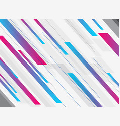 abstract technology geometric blue and pink vector image