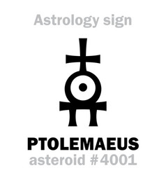 Astrology asteroid ptolemaeus vector