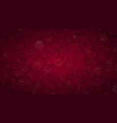 autumn burgundy luxury background with fallen vector image
