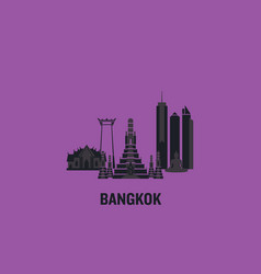 bangkok principal buildings vector image