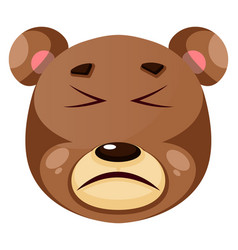 Bear is feeling painful on white background vector