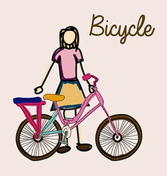 Bicycle desing vector