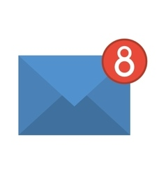 Blue email envelope received social media vector