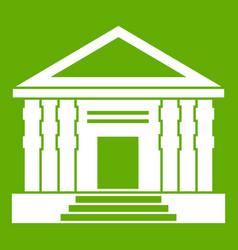 colonnade icon green vector image