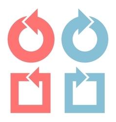Color arrows flat design set vector