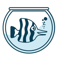 Cute ornamental fish in aquarium vector