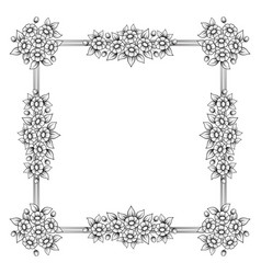 daisy flowers square frame vector image